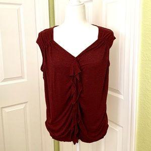 Ella moss ruffled blouse size M